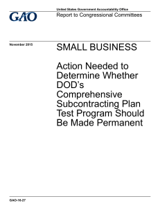 SMALL BUSINESS Action Needed to Determine Whether DOD's