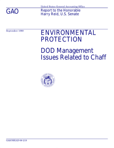 GAO ENVIRONMENTAL PROTECTION DOD Management