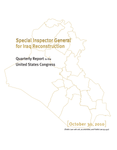 [ ] Special Inspector General for Iraq Reconstruction