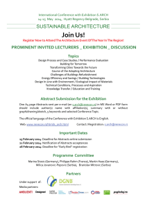 Join Us! SUSTAINABLE ARCHITECTURE PROMINENT INVITED LECTURERS _ EXHIBITION _ DISCUSSION Topics