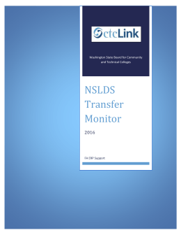 NSLDS Transfer Monitor 2016