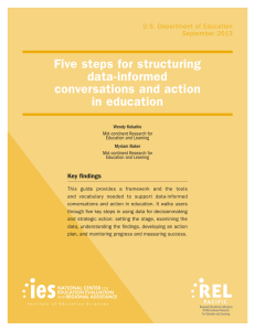 Five steps for structuring data‑informed conversations and action in education