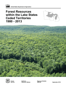 Forest Resources within the Lake States Ceded Territories 1980 - 2013