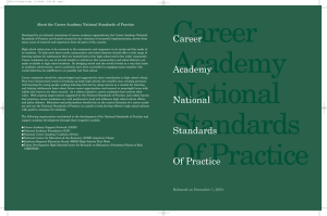 Career About the Career Academy National Standards of Practice