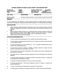 SCHOOL BOARD OF SAINT LUCIE COUNTY JOB DESCRIPTION
