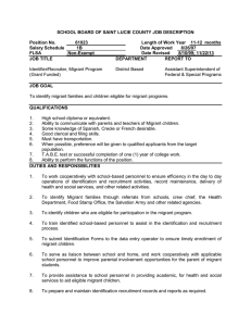 SCHOOL BOARD OF SAINT LUCIE COUNTY JOB DESCRIPTION  Position No. 61023