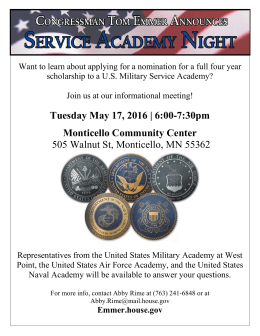 Want to learn about applying for a nomination for a... scholarship to a U.S. Military Service Academy?