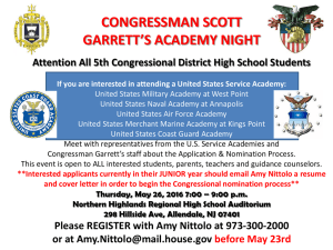 CONGRESSMAN SCOTT GARRETT'S ACADEMY NIGHT