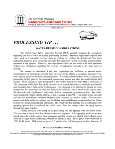 PROCESSING TIP . . . Cooperative Extension Service WATER REUSE CONSIDERATIONS