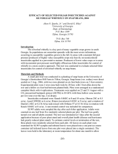 EFFICACY OF SELECTED FOLIAR INSECTICIDES AGAINST Alton N. Sparks, Jr.