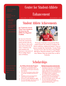 Center for Student-Athlete Enhancement Student Athlete Achievements