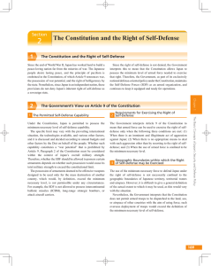 2 The Constitution and the Right of Self-Defense 1 Section