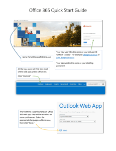 Office 365 Quick Start Guide