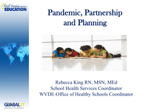 Pandemic, Partnership and Planning