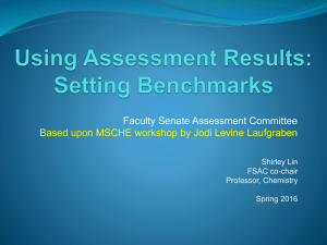 Faculty Senate Assessment Committee Shirley Lin FSAC co-chair
