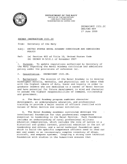 SECNAVINST 1531.2C DNS/CNO MPP 17 June 2009 SECNAV INSTRUCTION 1531.2C