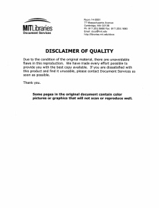 MITLibraries DISCLAIMER  OF  QUALITY