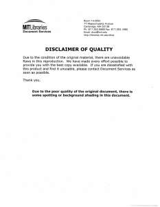 DISCLAIMER  OF  QUALITY MMJIITLibraeries