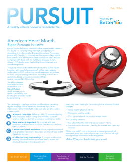 PURSUIT American Heart Month Blood Pressure Initiative