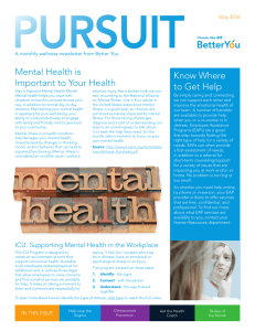 PURSUIT Mental Health is Important to Your Health Know Where