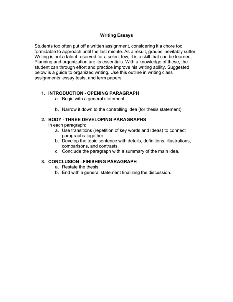 Writing Introductory and Concluding Paragraphs