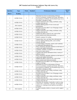2007 Standard and Performance Indicator Map with Answer Key Grade 7