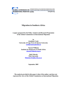 Migration in Southern Africa