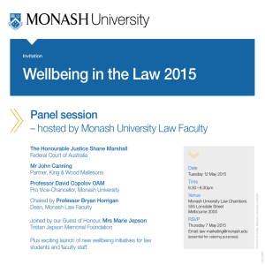 Wellbeing in the Law 2015 Panel session
