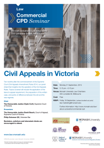Civil Appeals in Victoria  Commercial CPD