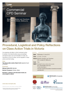 Commercial CPD Seminar Procedural, Logistical and Policy Reflections