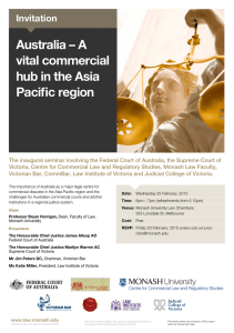 Australia – A vital commercial hub in the Asia Pacific region