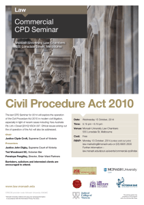 Civil Procedure Act 2010 Commercial CPD Seminar Law