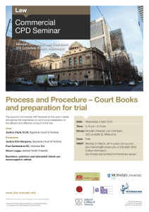 Process and Procedure – Court Books and preparation for trial Commercial CPD Seminar