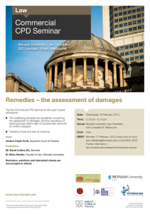 Commercial CPD Seminar Remedies – the assessment of damages Law