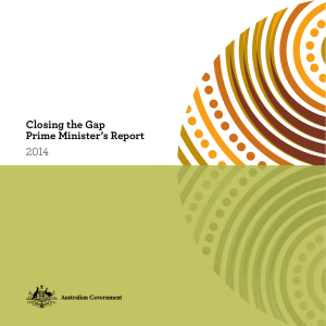 Closing the Gap Prime Minister's Report 2014