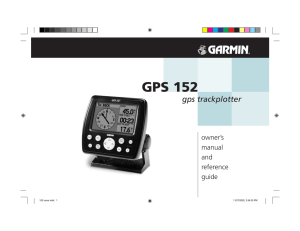 GPS 152 gps trackplotter owner's manual
