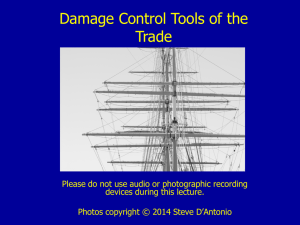 Damage Control Tools of the Trade
