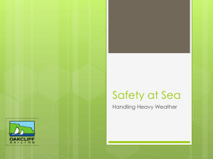 Safety at Sea Handling Heavy Weather