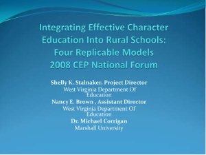 Integrating Effective Character Education Into Rural Schools: Four Replicable Models