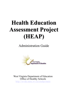 Health Education Assessment Project (HEAP) Administration Guide