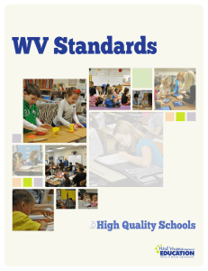 WV Standards High Quality Schools for Office of School Improvement
