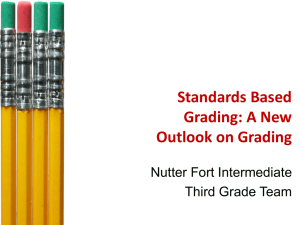 Standards Based Grading: A New Outlook on Grading Nutter Fort Intermediate