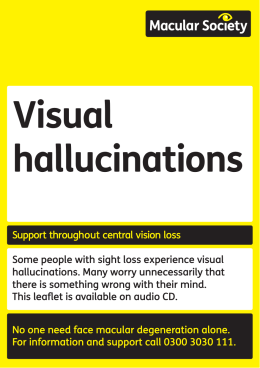 Visual hallucinations