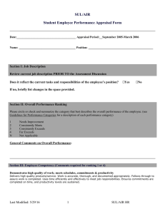 SUL/AIR Student Employee Performance Appraisal Form  ___________________________________