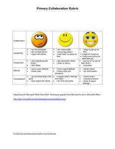 Primary Collaboration Rubric