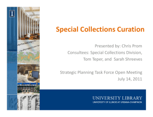 Special Collections Curation