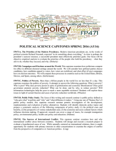 POLITICAL SCIENCE CAPSTONES SPRING 2016 (AY16)