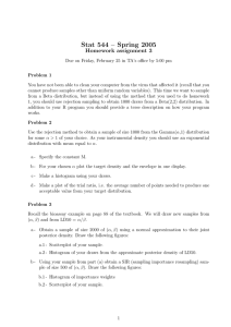 Stat 544 – Spring 2005 Homework assignment 3