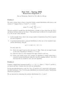 Stat 544 – Spring 2005 Homework assignment 4
