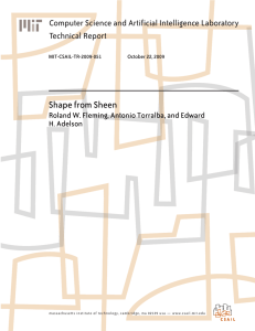 Shape from Sheen Computer Science and Artificial Intelligence Laboratory Technical Report